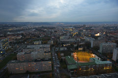 Prague from the City Tower Stock Photos