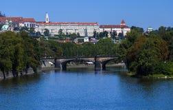 Old Prague city view (parliament, isle) Stock Photo