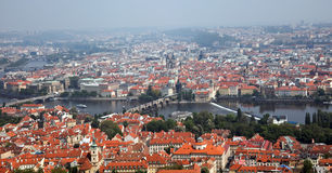 Prague City View from Petrin Stock Photo