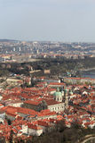 Prague city view from Petrin hill Royalty Free Stock Photos