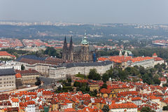 Prague City View from Petrin lookout tower Royalty Free Stock Photos