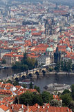 Prague City View from Petrin lookout tower Stock Photography