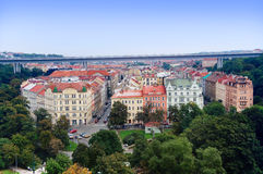 Prague city view from Vysehrad Stock Photos