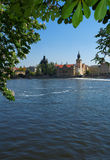 Prague city waterfront Royalty Free Stock Photography
