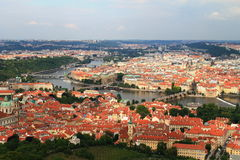 Prague cityscape. View on Prague with Vltava river Royalty Free Stock Images