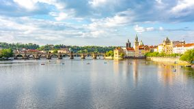 Free Prague Cityscape And Charles Bridge Over Vltava River, Czech Republic Royalty Free Stock Photo - 159538665