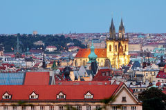 Prague cityscape with cathedral Stock Images