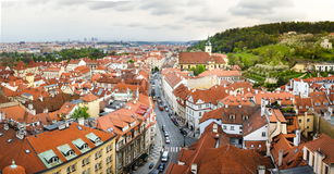 Prague cityscape with characteristic Chech architecture Royalty Free Stock Images