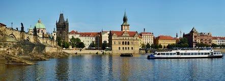 Prague Cityscape. Charles Bridge and skyline view of Prague, Czech republic stock images
