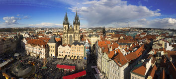 The Prague cityscape with The Church of Mother of God before Tyn Royalty Free Stock Photography