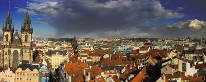 The Prague cityscape with The Church of Mother of God before Tyn Royalty Free Stock Photo