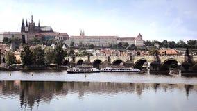 Prague cityscape stock video footage