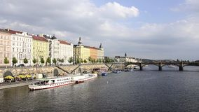 Prague cityscape stock footage