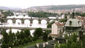 Prague cityscape stock video