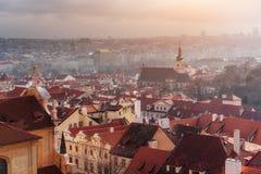 Prague cityscape, Czech Republic. Sunny blue clear sky Royalty Free Stock Photography