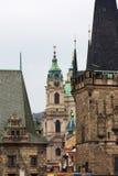 Prague Cityscape Details Stock Images
