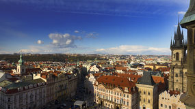 The Prague cityscape at Old times square Royalty Free Stock Photo