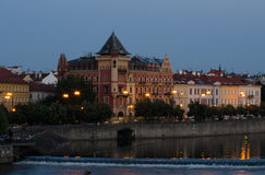 Prague cityscape, red house Royalty Free Stock Photography