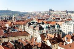 Prague cityscape panoramic view, Czech Republic, Europe Stock Image