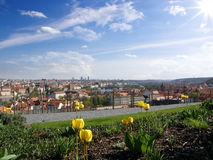 Prague cityscape in spring Royalty Free Stock Photo