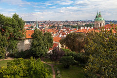 Prague Cityscape from Terrace near Prague Castle Royalty Free Stock Photography