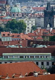 Prague cityscape from the walls of Prague Castle Stock Images