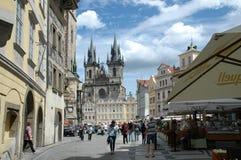 Prague cityview. Downtown area in Prague, Chez Republic royalty free stock photography