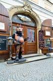 Prague specific restaurant entrance Royalty Free Stock Photo