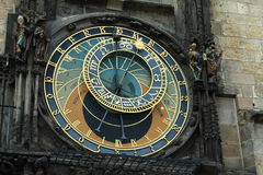 Prague clock. Astronomical clock in Prague, Old Town Square Royalty Free Stock Photography