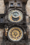 Prague Clock. Famous Prague Town Hall tower with astronomical clock, Czech Republic Royalty Free Stock Photography
