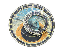Prague - clock. Czech republic - Prague astronomical clock on white background Royalty Free Stock Photo