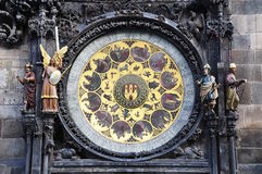 Prague Clock. Calendar dial Royalty Free Stock Photos