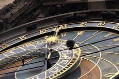 Prague clock detail Stock Photo