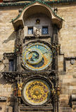 Prague clock tower. Astronomical Clock in Old Town, Czech Republ Stock Image