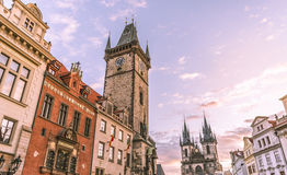 Prague clock tower Royalty Free Stock Photo