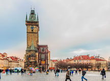 Prague Clock Tower Stock Photography