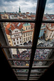 Prague from clock tower Royalty Free Stock Image