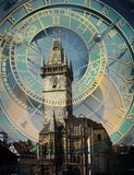 Prague clock and townhall concept Stock Photography