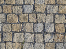 Prague cobblestone gray beige paving stone square royalty free stock images