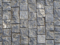 Prague cobblestone gray blue white paving stone Royalty Free Stock Images