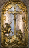 Prague - cross from baroque altar Royalty Free Stock Image