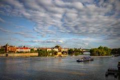 Prague, Cruise Ship, Old Town, Heritage Royalty Free Stock Photos