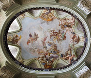 Prague - cupola of st. Barbara. Chapel in the st. Nicholas church by Josef Karmoli�n Stock Photo