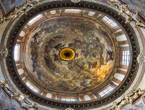 Prague - cupola of st. Francis Seraph church Stock Photography