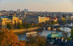Aerial view of Prague, Czechia royalty free stock image