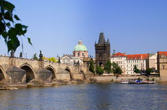 Prague, Czech Rep: Charles Bridge Stock Photo