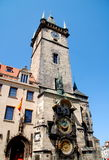 Prague, Czech Rep: Old Town Hall Tower. The medieval Old Town Hall with its famed 15th century dual astronomical clocks in Staromestské namesti (Old Town Square Royalty Free Stock Images
