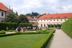 Prague, Czech Rep: Wallenstein Palace Gardens Stock Photography