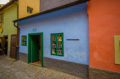 Prague, Czech Republic - 13 August, 2015: Old Town Of City, Great Colorful Modest Ancient Architecture And Tight Streets Stock Images