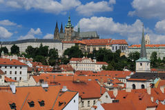 Prague Czech Republic. Skyline of Prague, Czech Republic with Prague Castle visible in the distance Stock Photos